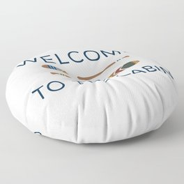 Welcome to the Cabin Paddles Floor Pillow