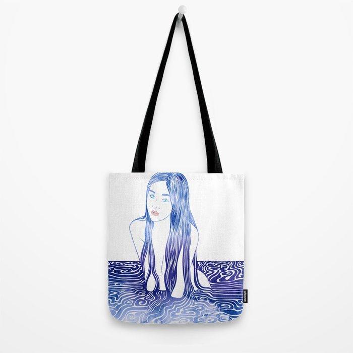 Water Nymph L Tote Bag