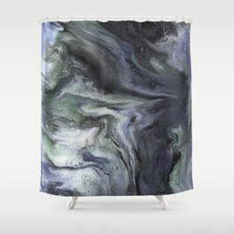 'I'm With You' Psychedelic Resin Artwork Shower Curtain