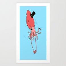 Gentlesquid Art Print