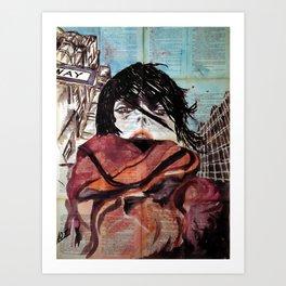 Selfie in New York Art Print