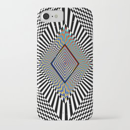Matrix processor. Holographic hypnotic pattern. iPhone Case