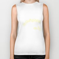you are my sunshine Biker Tanks featuring YOU ARE MY SUNSHINE by Monika Strigel