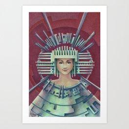 """""""Portrait with silver chullo"""" Art Print"""