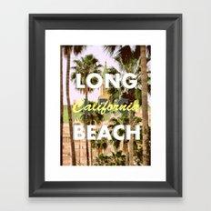 Long Beach, California V.R. Framed Art Print