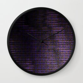 Violet Rays Night Wall Clock