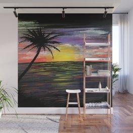 Sunset Sea Wall Mural