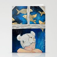 dreamer Stationery Cards featuring Dreamer by Zina Nedelcheva