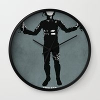 edward scissorhands Wall Clocks featuring Edward Scissorhands by Steal This Art