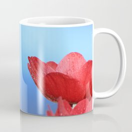 Red beauties with blue background Coffee Mug