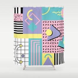 Memphis Pattern 27 - 80s - 90s Retro / 1st year anniversary design Shower Curtain