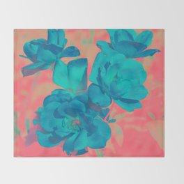 The Blue Rose Throw Blanket