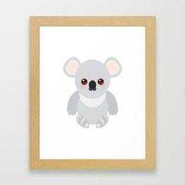 Funny cute koala Framed Art Print