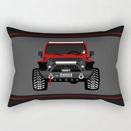 bionic jeep girl Rectangular Pillow