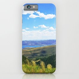 Bear Lake Blue iPhone Case