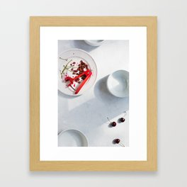 Cherries: Pits and Stems Framed Art Print