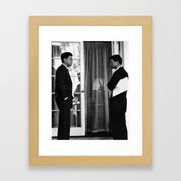 President John Kennedy And Robert Kennedy Framed Art Print