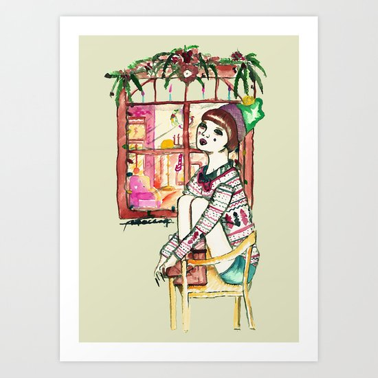 Even ELF shouldn't be alone at Christmas Art Print