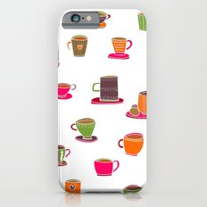 Coffee Cup Green & Orange Slim Case iPhone 6s