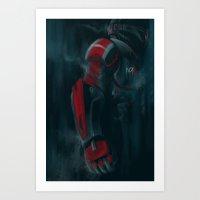 n7 Art Prints featuring N7 by crimm-art