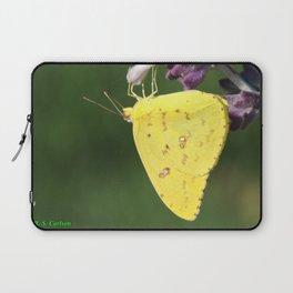 Orange Sulphur Butterfly Laptop Sleeve