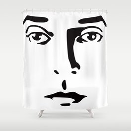 Silent Stars - Buster Keaton Shower Curtain
