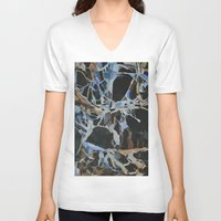 insect V-neck T-shirts featuring Insect Graveyard by Rachel Hoffman