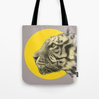 eric fan Tote Bags featuring Wild 4 by Eric Fan & Garima Dhawan by Garima Dhawan
