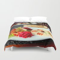 west coast Duvet Covers featuring West Coast Middle Eastern by oneofacard