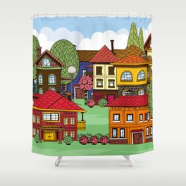 Town Shower Curtain