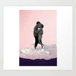 Kiss in the Clouds Art Print