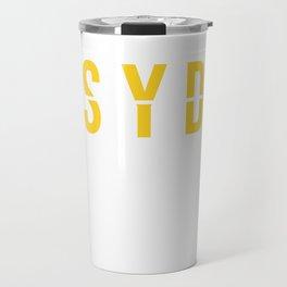 SYD - Sydney Airport - Australia - Airport Code Souvenir or Gift Design  Travel Mug