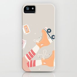 Roller skate girl 003 iPhone Case
