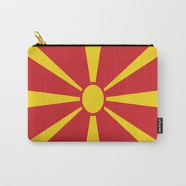 Flag of Macedonia - Macedonian,skopje,Bitola,Kumanovo,Prilep,Balkan,Alexander the great,Karagoz,red Carry-All Pouch
