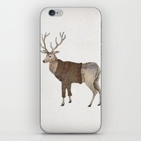 stag iPhone & iPod Skins featuring Stag by David Fleck