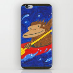 Kayak Ape on Blue iPhone & iPod Skin