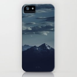 Lonely peak of the mountains iPhone Case