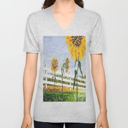Sunflower Trio Unisex V-Neck