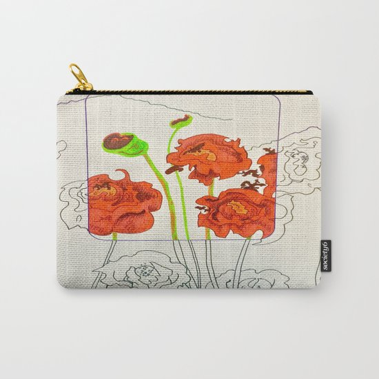 Perspective on Flowers Carry-All Pouch