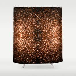 Beautiful Bronze Orange Brown glitters sparkles Shower Curtain