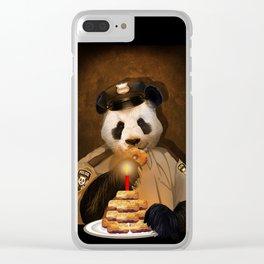 Police Panda Clear iPhone Case