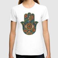 hamsa T-shirts featuring Hamsa by Valentina Harper