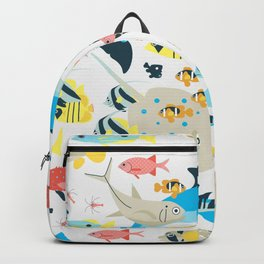 Coral reef animals Backpack