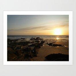 Crocklets Sundown Art Print