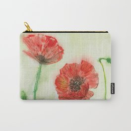Soft Red Poppies Carry-All Pouch