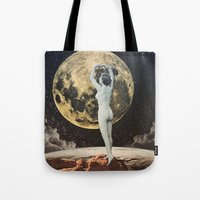 allison argent Tote Bags featuring Allison by TRASH RIOT