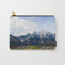 Village Beneath the Mountain Carry-All Pouch