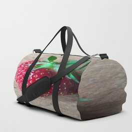 Lone Strawberry on the Cutting Board Duffle Bag