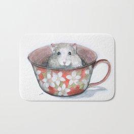 Rat in a cup Bath Mat