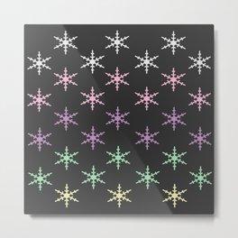 colorful snow pattern Metal Print
